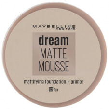 Fond de ten cu primer cu efect mat Maybelline Dream Matte Mousse Foundation + Primer 02 Fair