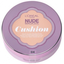 Fond de ten fluid cu aplicator si oglinda L'Oreal Nude Magique Cushion Foundation 04 Rose Vanilla