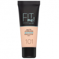 Fond de ten matifiant Maybelline Fit Me Matte + Poreless Foundation 101 True Ivory