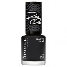 Lac de unghii mat negru Rimmel Rita Ora Nail Polish - Matte Black