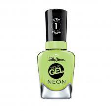 Lac de unghii Sally Hansen Miracle Gel/Neon, Electri-lime, 052, 14.7ml