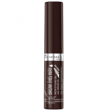 Mascara gel fixator maro inchis Rimmel Brow This Way Styling Gel 003 Dark Brown