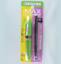 Mascara si creion dermatograf  Rimmel The Max Bold Curves Extreme Volume and Lift Mascara plus Soft Kohl kajal eyeliner