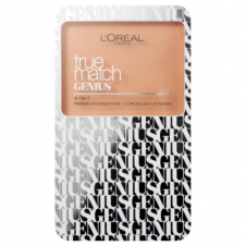 Paleta 4 in 1 primer+fond de ten + corector + pudra L'Oreal True Match Genius 4-In-1 Palette - Sand