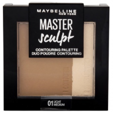 Paleta conturare si iluminare ten Maybelline Master Sculpt Contouring Palette 01 Light/Medium