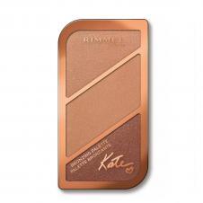 Paleta pentru conturarea fetei Rimmel Kate Trio bronzing
