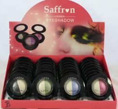 Fard de pleoape sidefat Saffron Duo Glitter Eyeshadow - Black