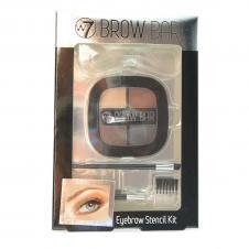 Set complet intretinere sprancene W7 Brow Bar Eyebrow Stencil Kit