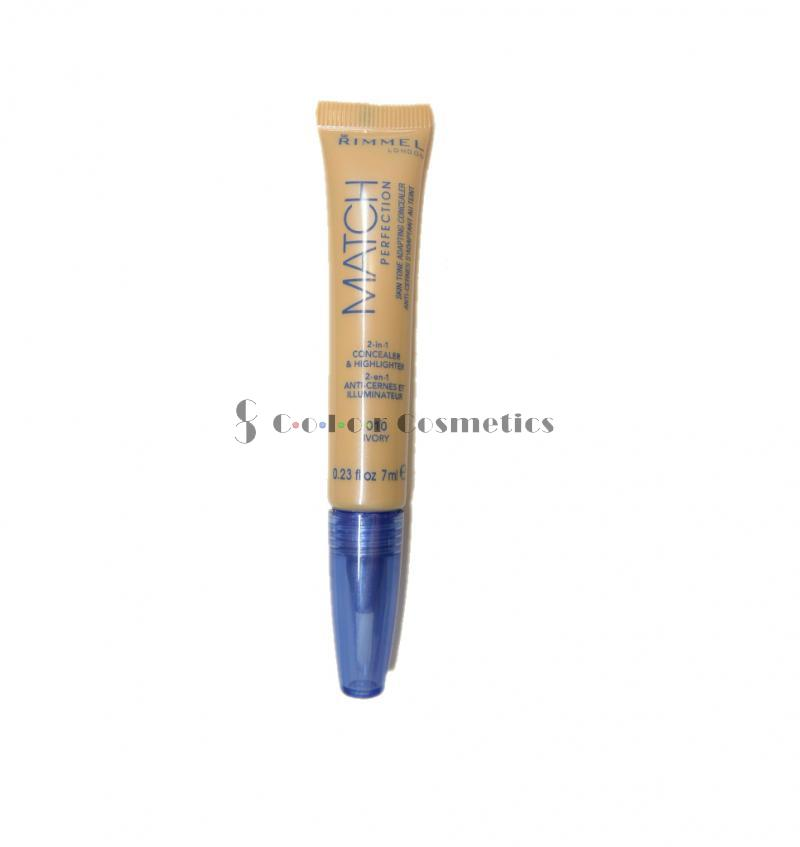 Corector si iluminator Rimmel Match Perfection 2 in 1 concealer and highlighter - Ivory