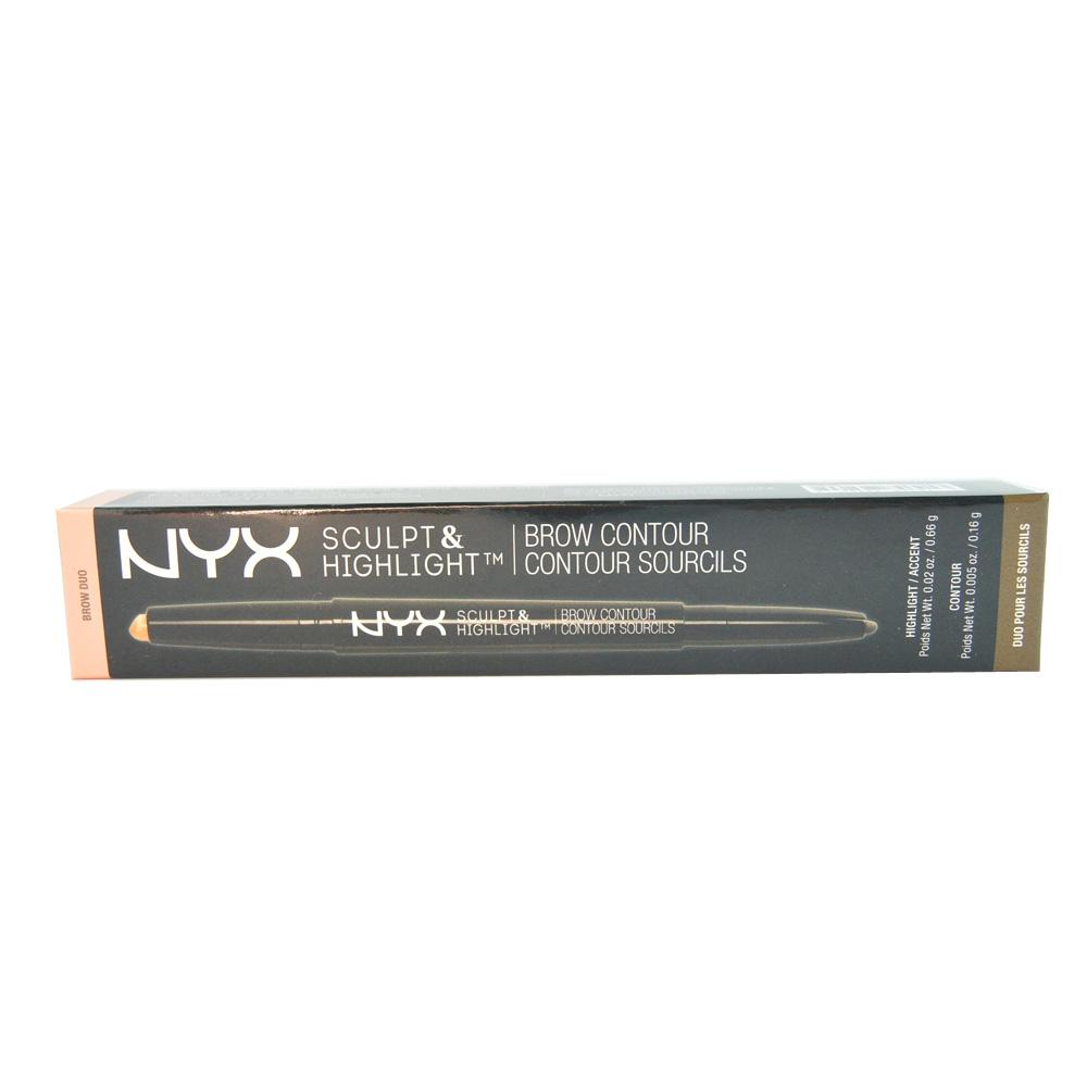 Creion contur sprancene NYX Sculpt & Highlight Brow Contour Pencil - Golden Peach / Black