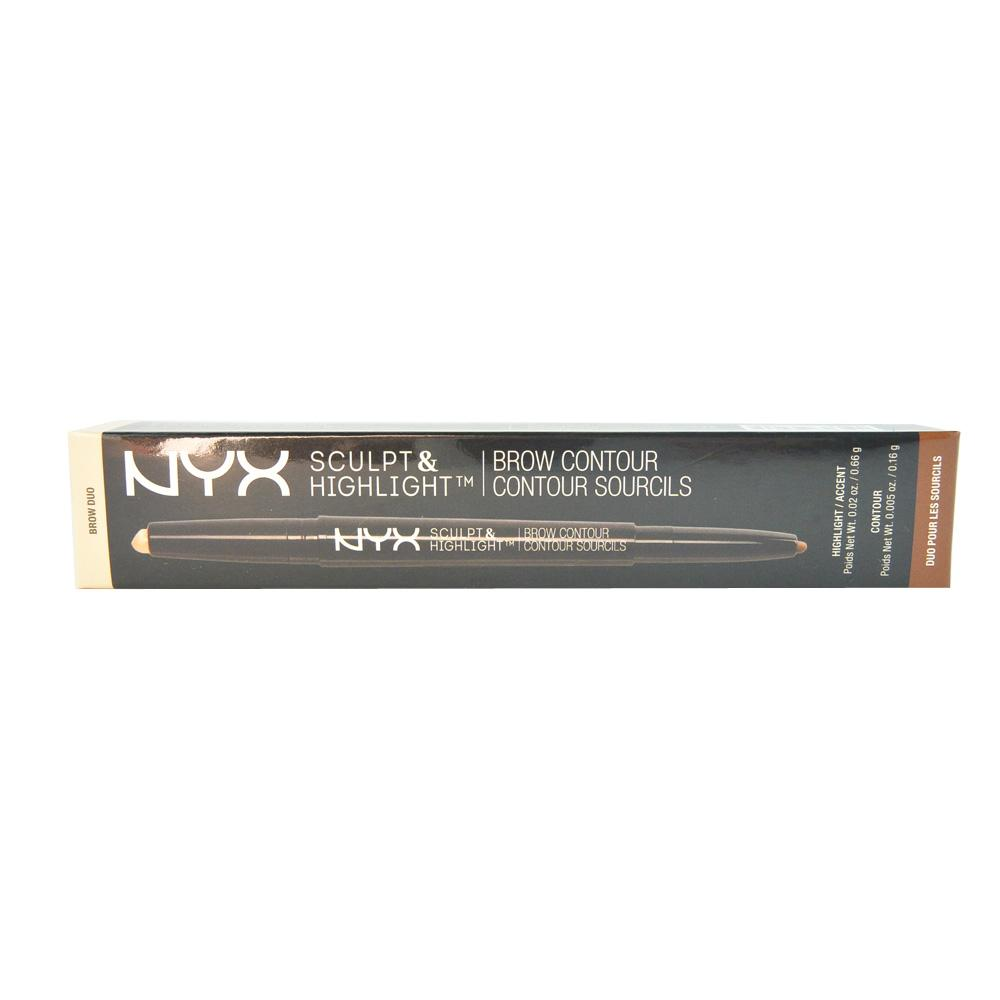 Creion contur sprancene NYX Sculpt & Highlight Brow Contour Pencil - Light Beige/ Espresso