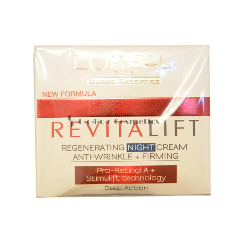 Crema de noapte anti-riduri regenerativa L'Oreal RevitaLift Regenerating Night Cream Anti-Wrinkle + Firming