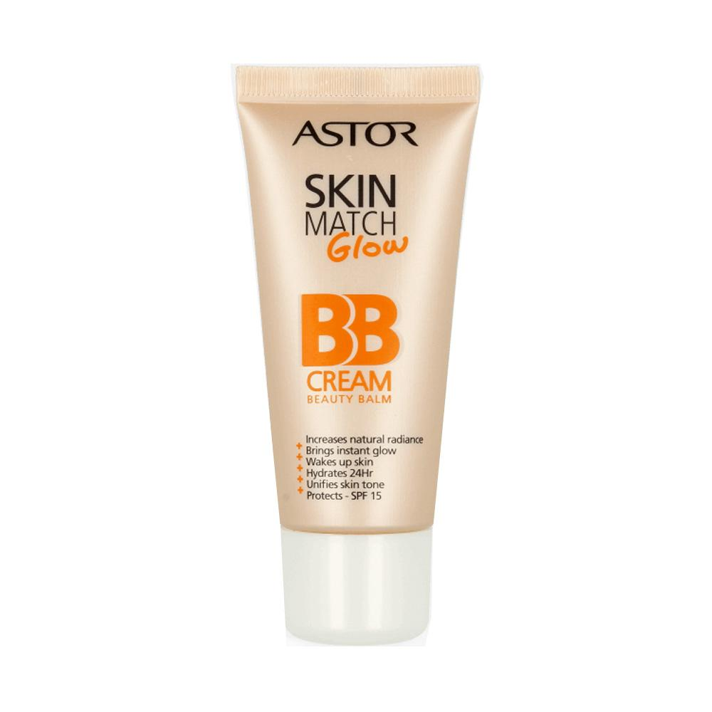 Crema de zi BB cream Astor Skin Match Glow BB Cream - Ivory