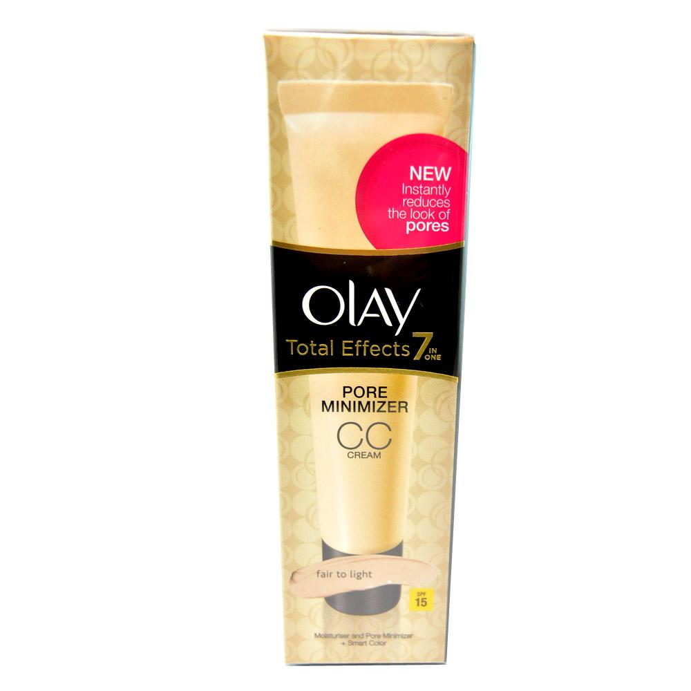 Crema pentru atenuarea porilor Olay Total Effects 7-in-1 Pore Minimizer CC Cream SPF15 - Fair to Light