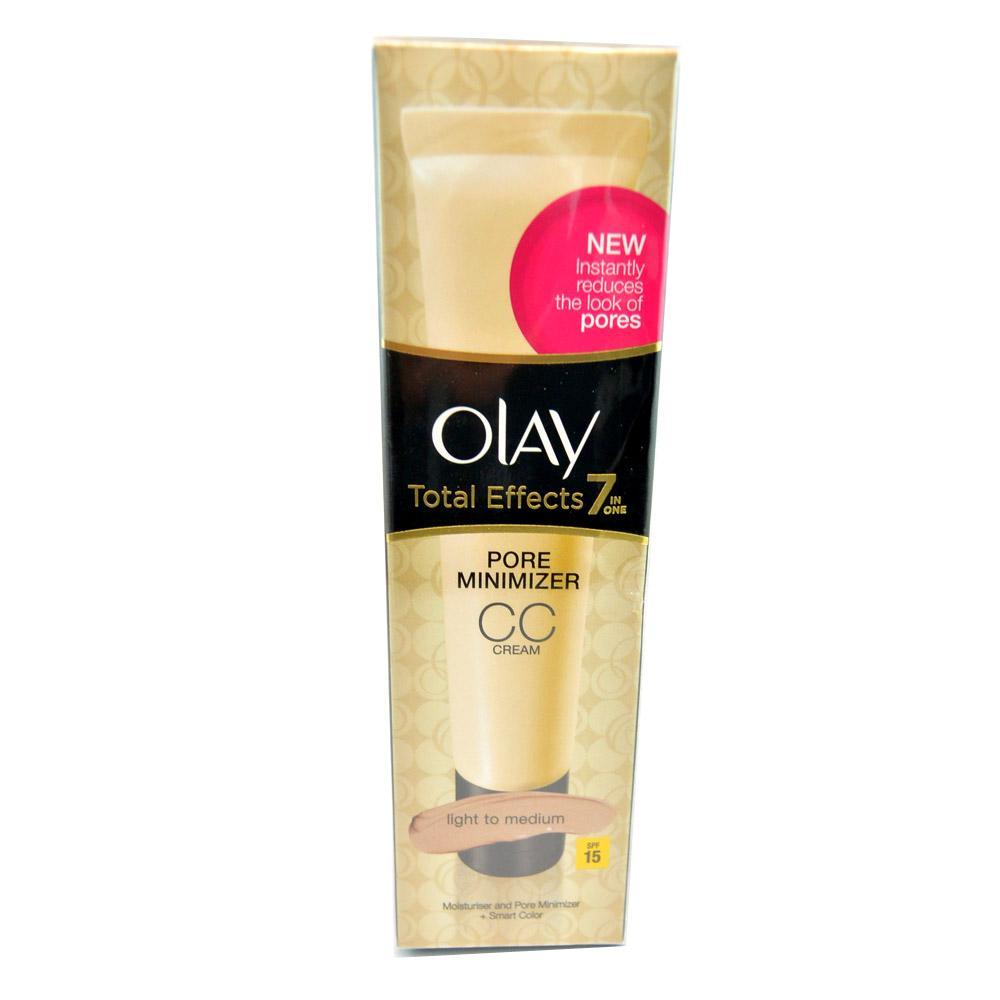 Crema pentru atenuarea porilor Olay Total Effects 7-in-1 Pore Minimizer CC Cream SPF15 - Light to Medium