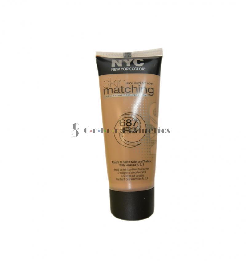 Fond De Ten Lichid Adaptabil Nyc Skin Matching Foundation - Light To Medium