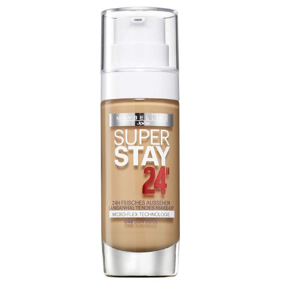 Fond de ten Maybelline Super Stay 24H Longwear Foundation , 048, Sun Beige