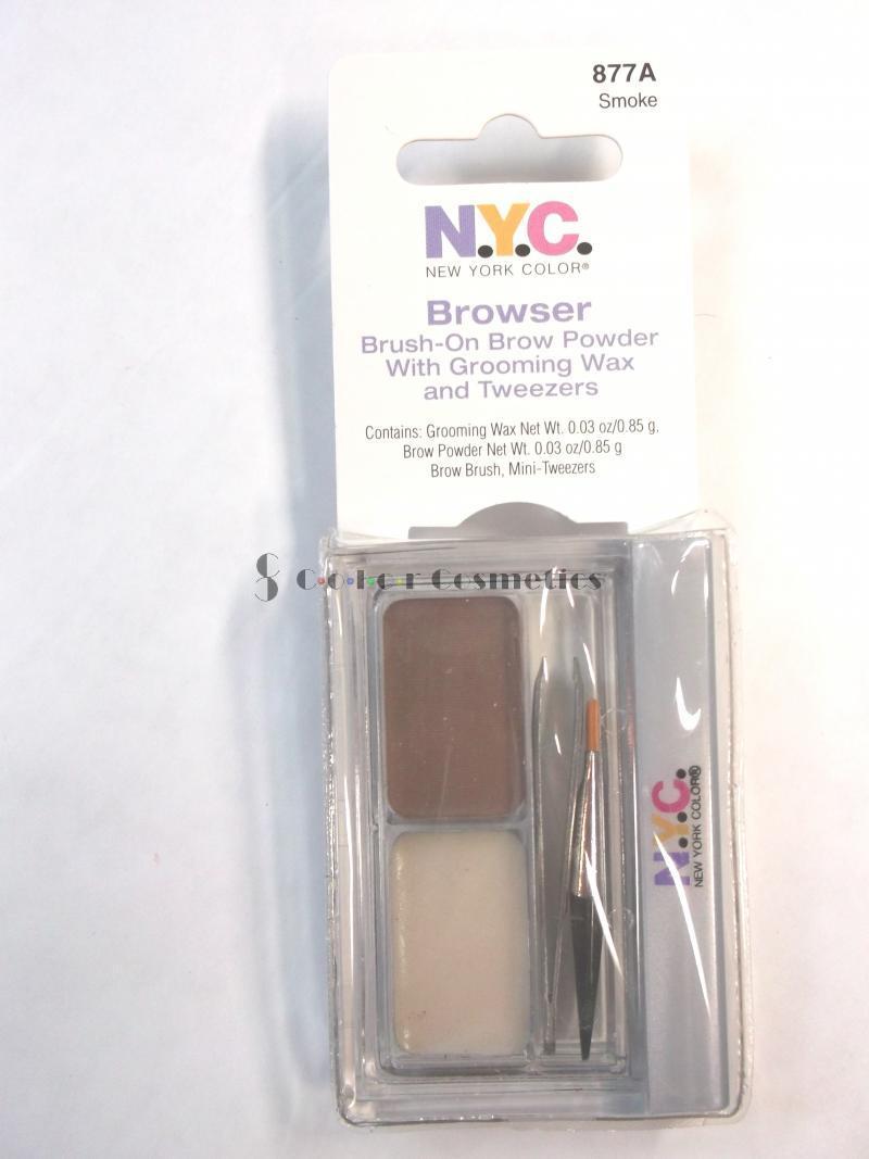 Kit complet sprancene NYC Browser Brush On Brow Powder Kit - Smoke