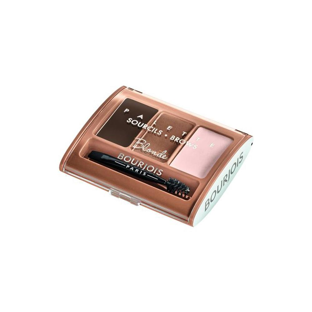Kit pentru definirea naturala a sprancenelor Bourjois Brow Contour Palette Blonde, Nuanta deschisa, 4.5g