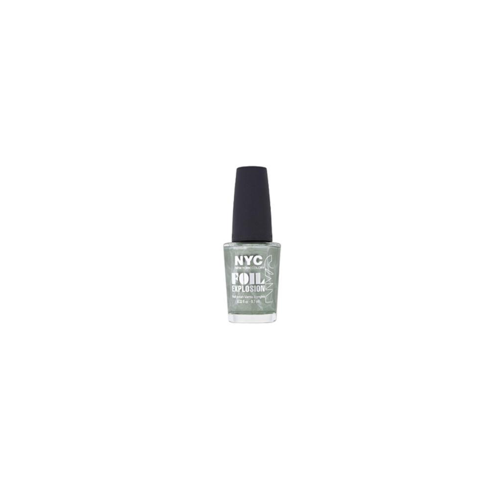 Lac de unghii cu rezultat metalic New York Color Foil Explosion Nail Polish Magic Earth 014 Verde  9.7ml