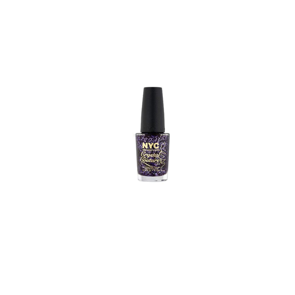 Lac de unghii cu sclipici New York Color Crystal Couture NY Princess  Mov 9.7ml