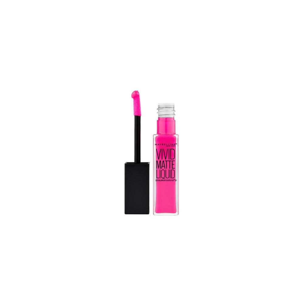 Lip Gloss mat Maybelline Color Sensational Vivid Matte Liquid Lipgloss - Electric Pink