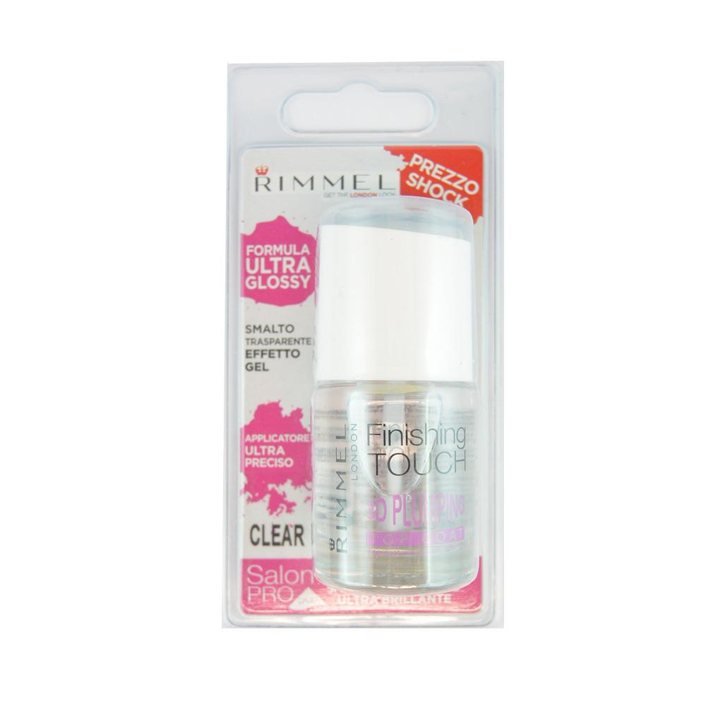 Luciu de unghii transparent cu Lycra Rimmel Finishing Touch 3D Plumping Top Coat