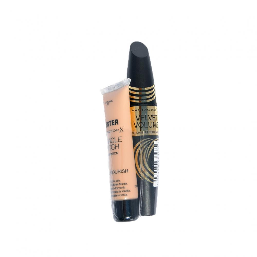 Mascara Max Factor Velvet Volume Mascara si BONUS tester fond de ten Miracle Match