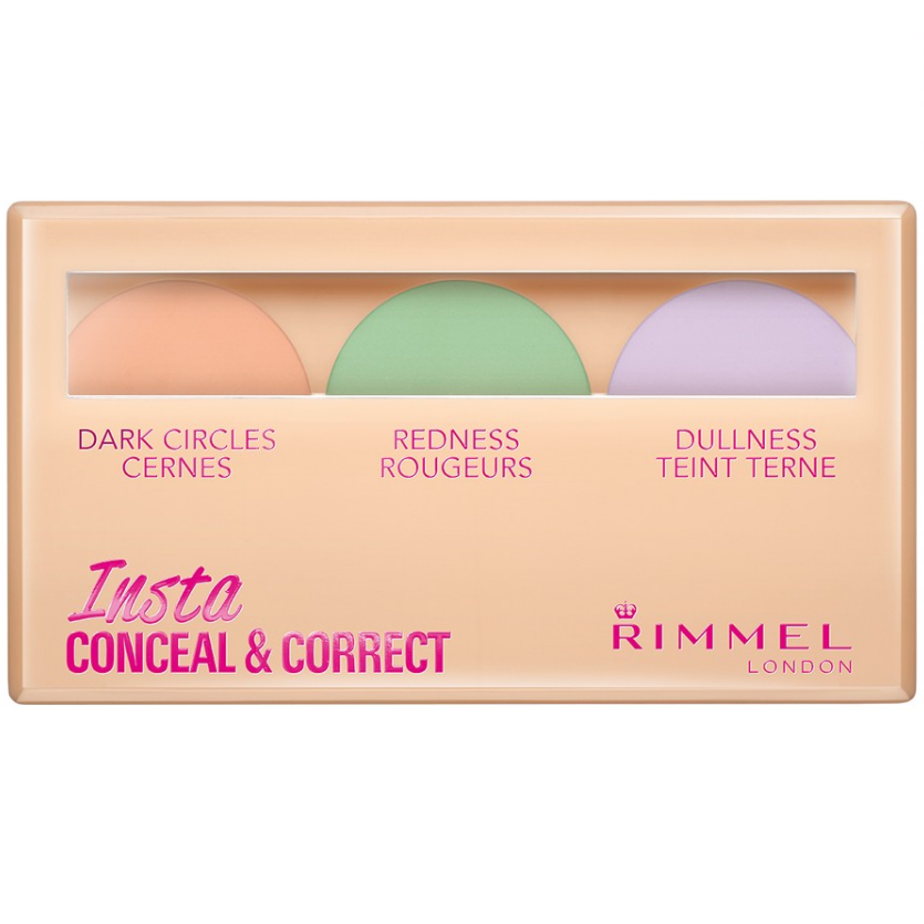 Paleta corectoare Rimmel Insta Conceal & Correct Palette