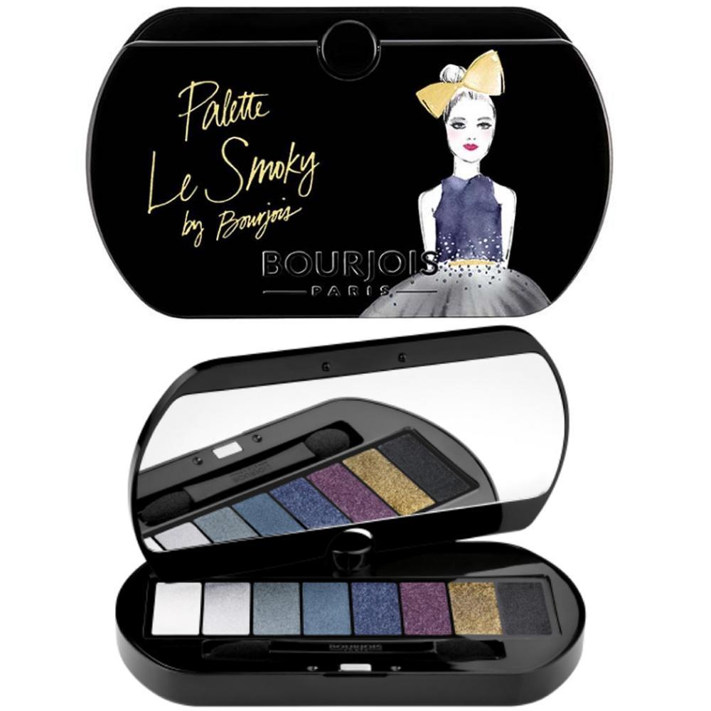 Paleta de farduri care contin formula de primer pentru culoare rezistenta Bourjois Le Smoky Eyeshadow Palette, 8 nuante
