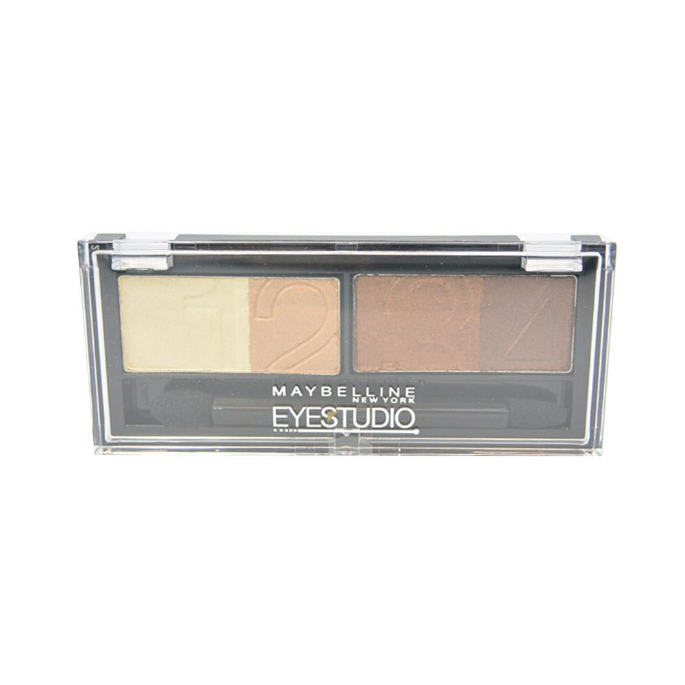 Paleta farduri highlighter si liner Maybelline Eyestudio  Natural Impact Quad Eyeshadow - Glamour Browns