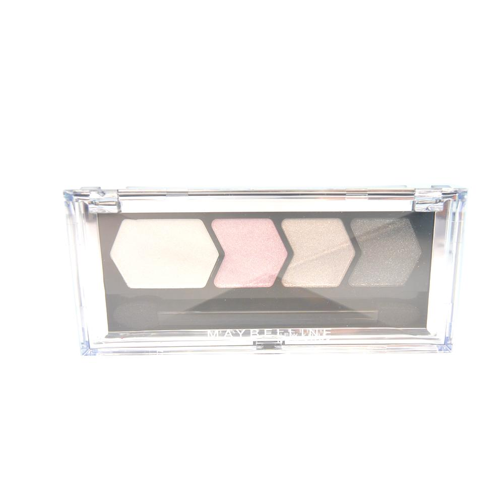 Paleta farduri Maybelline Silk Glam By Eyestudio Quad Eyeshadow - Grey Pink Drama
