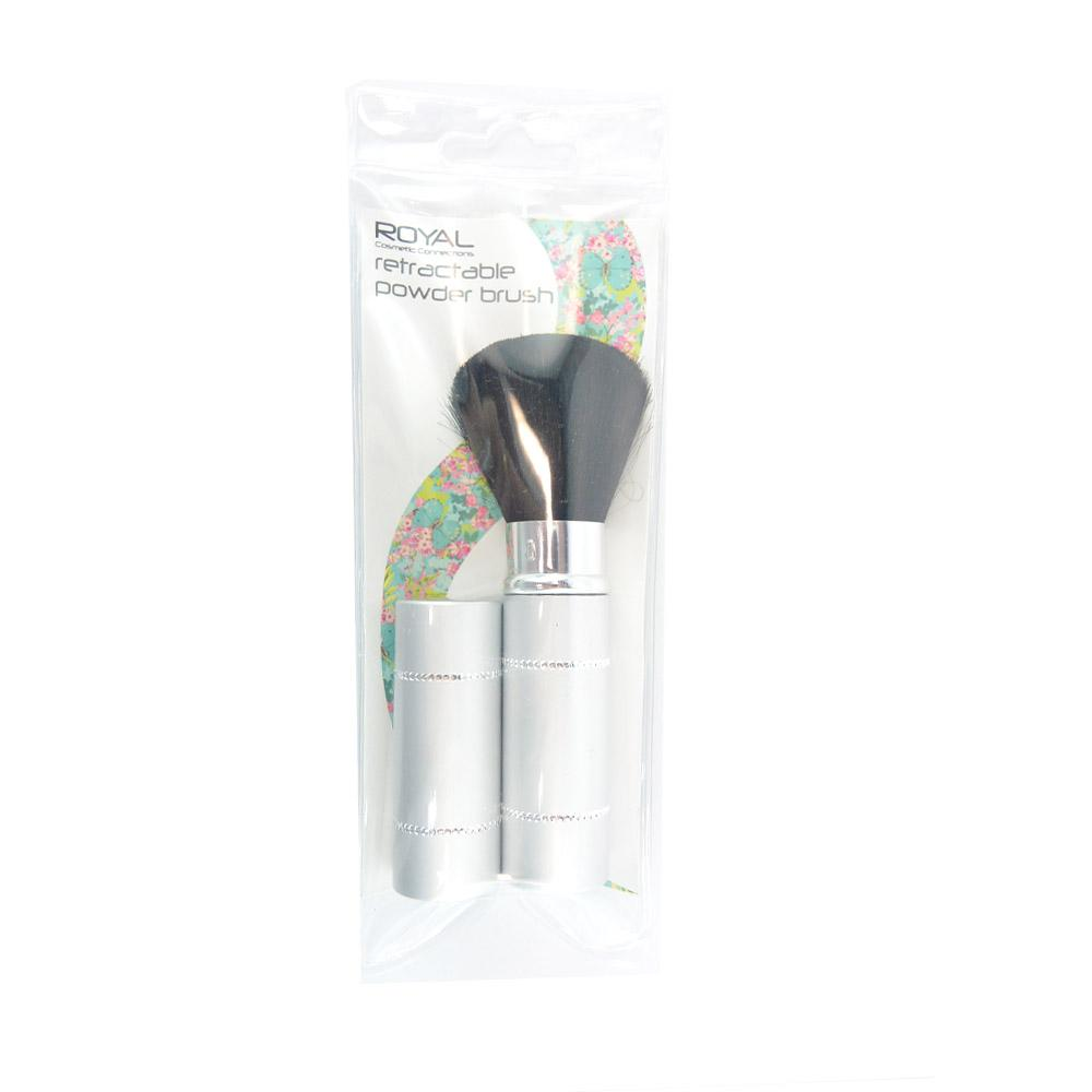 Pensula retractabila cu capac pentru pudra Royal Cosmetic Connections Retractable Powder Brush - Grey