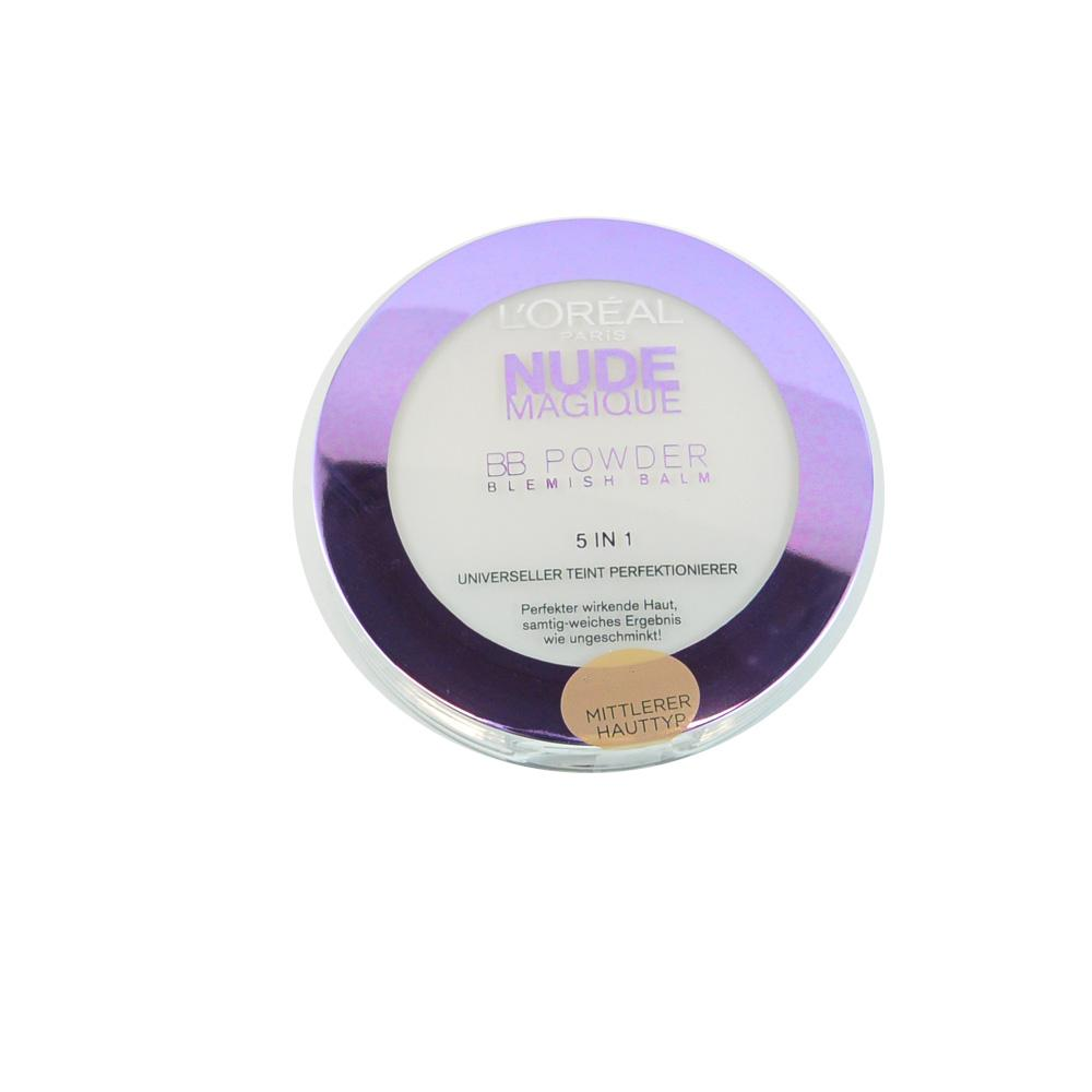 Pudra BB L'Oreal Nude Magique BB Powder Mittlerer (Medium)