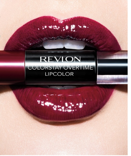 Ruj lichid hidratant in 2 pasi Revlon Colorstay Overtime Duo Lipcolor 040 Forever Scarlet