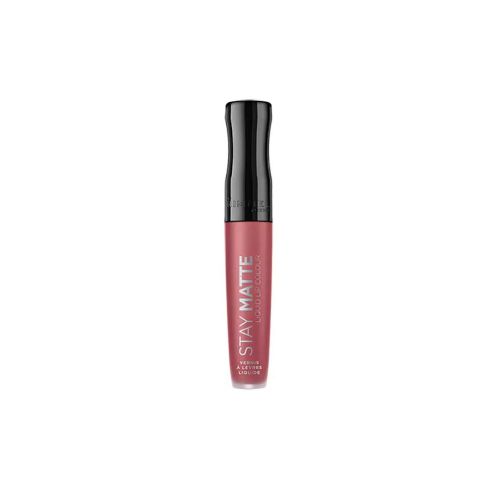 Ruj lichid mat Rimmel Stay Matte Liquid Lip Colour 100 Pink Bliss 5.5ml