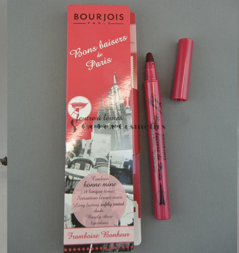 Ruj tint Bourjois Bons baisers de Paris - Framboise Bonheur