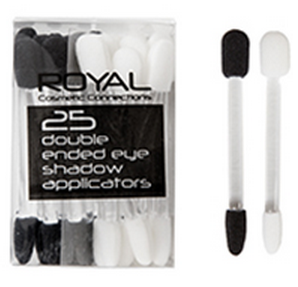 Set 25 aplicatoare duble pentru farduri Royal Cosmetic Connections 25 Double Ended Eye Shadow Applicators