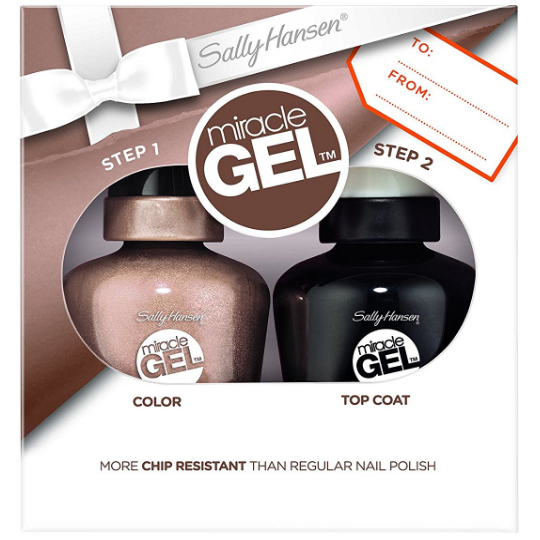Set Lac de unghii gel si top coat Sally Hansen Miracle Gel Nail Polish Duo Set - Sleigh All Day