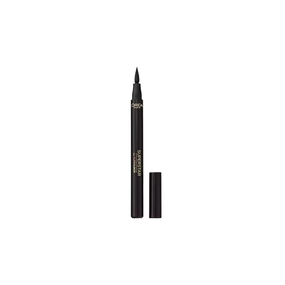 Tus contur ochi  L'Oreal Superstar By SuperLiner Felt Tip Pen Black Negru